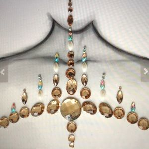 Accessories - Metallic gem rave festival face jewels body edc